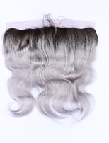 Beata Hair 1b Grey Body Wave 13x4 Lace Frontals Closure Ombre Brazilian Human Hair Gray Frontal No Remy Hair