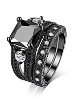 Women's Band Rings AAA Cubic Zirconia Obsidian Magnetic Therapy Vintage Luxury  Ring Jewelry For Wedding Engagement Ceremony Party