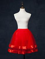 Комбинации Комбинация трапецией Комбинации с пышной юбкой Короткие Полиэстер Тюль