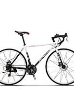 Bicicletas Cruiser Ciclismo 21 Velocidad 26 pulgadas/700CC SHIMANO TX30 Disco de Freno Sin Amortiguador Cuadro de Acero CarbónA prueba de