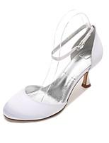 Femme Chaussures de mariage Confort D'Orsay & Deux Pièces Satin Printemps Eté Mariage Soirée & Evénement Habillé CreuseTalon Bas Kitten