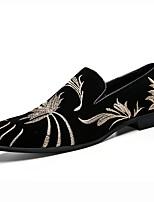 Для мужчин обувь Замша Осень Зима Удобная обувь Оригинальная обувь Туфли на шнуровке Назначение Черный