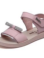 Girls' Sandals Comfort Summer Cowhide Casual White Purple Blushing Pink Flat