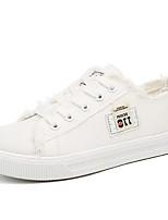 Для женщин Кеды Удобная обувь Полотно Лето Повседневные Белый Черный Светло-синий На плоской подошве