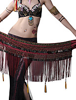 Belly Dance Hip Scarves Women's Performance Polyester Metal Beading 1 Piece Hip Scarf