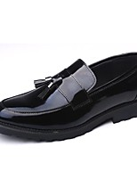 Men's Loafers & Slip-Ons Comfort Patent Leather Casual Low Heel Black Hot Sales