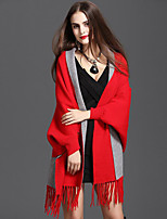 Women's Wrap Capes Knitwear Wedding Tassel