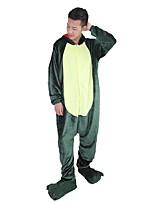 kigurumi Pyjamas Dragon Collant/Combinaison Chaussures Fête / Célébration Pyjamas Animale Halloween Rose Vert Mode Brodée Flanelle