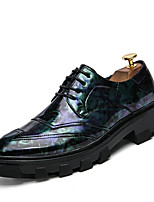Men's Shoes Leatherette Spring Summer Comfort Oxfords For Casual Black Yellow Light Purple Blue