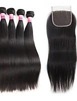 Человека ткет Волосы Бразильские волосы Прямые 1 год 5 предметов волосы ткет кг Пряди с быстрым креплением