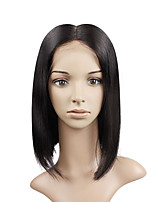 8A Grade Lace Front Human Hair Bob Wigs Straight Hair for Woman 130% Density Brazilian Virgin Hair Short Wig with Baby Hair