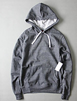 Men's Sports Outdoor Sports Simple Hoodie Solid Oversized Hooded Micro-elastic Cotton Long Sleeve Fall