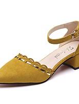 Mujer Sandalias Confort Ante Verano Casual Paseo Tacón Bajo Negro Gris Amarillo 5 - 7 cms
