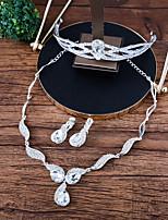 Damen Halskette Gestlyte Ohrringe Vorne Hinten Strass Modisch Strass Aleación Kronenform Für Hochzeit Hochzeitsgeschenke