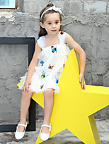 Girl's Cotton Fashion And Lovely The Temperamental Cake Skirt With Three-Dimensional Butterfly Gauze Condole Belt Princess Dress