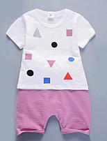 Ensembles Fille Géométrique Coton Eté Ensemble de Vêtements