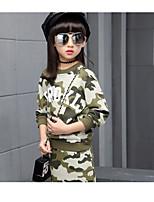 Ensembles Fille Camouflage Coton Printemps Automne Manches longues Ensemble de Vêtements