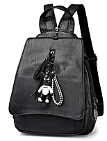 Women Bags All Seasons PU Backpack with for Casual Black