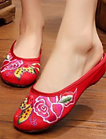 Women's Slippers & Flip-Flops Comfort Summer Fabric Casual Beige Red Blue Flat