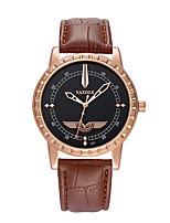 Men's Sport Watch Fashion Watch Quartz Genuine Leather Band Casual Black Brown