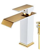 Set de centre Jet pluie with  Soupape céramique Mitigeur un trou for  Peintures , Robinet lavabo