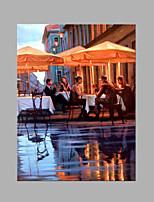 Ручная роспись Пейзаж Вертикальная,Художественный 1 панель Холст Hang-роспись маслом For Украшение дома