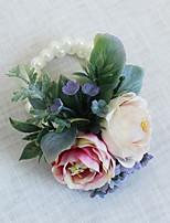 Свадебные цветы Букетик на запястье Свадебное белье Для специальных случаев Бусины Около 7 см