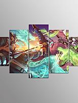 Отпечатки на холсте Абстракция,5 панелей Холст Горизонтальная С картинкой Декор стены For Украшение дома