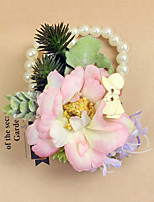 Wedding Flowers Grace Wrist Corsages Wedding / Special Occasion Bead / Satin / Fabric The Bride's Wrist Flower 1 Piece