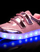 Kids Boys Girls' Sneakers Light Up Shoes Synthetic Fall Winter Wedding Casual Outdoor Light Up Shoes LED Low Heel Blushing Pink Silver GoldUnder