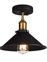 Luz de teto industrial semi flush metal vintage 1 luz pingente iluminação lustre lustre