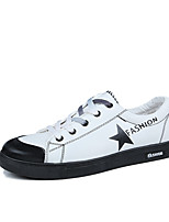 Men's Sneakers Comfort Mary Jane Spring Fall Canvas Casual Outdoor Lace-up Flat Heel White Black Flat