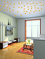 50Pcs/set All Over The Sky Star Mirror Sitting Room Bedroom Adornment To Be Able To Remove 3 D Wall Stickers Color Random