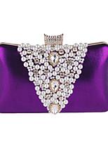 Damen Taschen Ganzjährig Polyester Abendtasche mit Strass Perlen Verzierung für Hochzeit Veranstaltung / Fest Formal Gold Schwarz Silber