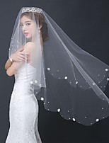 Wedding Veil One-tier Fingertip Veils Tulle / Lace