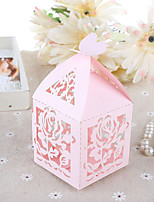 10 Favor Holder-Cubic Card Paper Pearl Paper Favor Boxes Gift Boxes