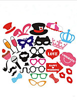 1 Set Birthday Party Welcome Creative Fun Wedding Beard Red Lip Photo Props
