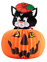 1PC Festival Decoration Halloween Paper Pendant Lantern Haunted House Jack-o-lanterns Witch Skull Random style