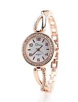 Women's Dress Watch Fashion Watch Wrist watch Chinese Quartz Imitation Diamond Alloy Band Vintage Elegant Casual Silver Gold