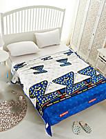 Супер мягкий Геометрические линии Полиэфир одеяла