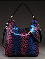Women Bags All Seasons Cowhide Shoulder Bag with for Casual Purple