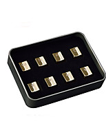 Ajazz 8 Keys Gold Metal Keycaps Set for Mechanical Keyboard  W A S D and Direction Keys