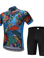 Cycling Jersey with Bib Shorts Men's Short Sleeves Bike Sweatshirt Jersey Shorts Shirt Tops Quick Dry Moisture Permeability Sweat-wicking
