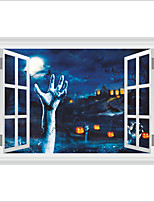 Wall Stickers Wall Decas Style Halloween Horror Blood Hand Pumpkin Head PVC Wall Stickers