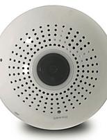 960p 1.3mp luz bulbo panorâmico sem fio ip câmera wifi fisheye 360 graus