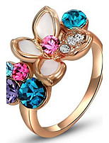 Settings Ring Band Ring  Luxury Women's Euramerican Fashion Flower Style Birthday Wedding Party Movie Gift Jewelry