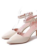 Femme Chaussures Polyuréthane Printemps Eté Confort Chaussures à Talons Avec Pour Décontracté Blanc Noir Rose