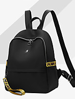 Women Bags All Seasons Oxford Cloth Backpack with for Event/Party Casual Formal Outdoor Office & Career Black Yellow