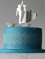 Украшения для торта Классическая пара Свадьба Для вечеринок Особые случаи Пластмассовая сумка