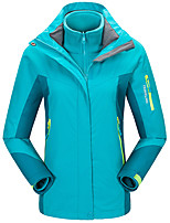 Women's 3-in-1 Jackets Keep Warm Windproof Breathable Wearproof 3-in-1 Jackets for Running/Jogging Camping / Hiking Climbing Winter